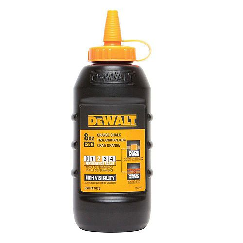 DEWALT 8 Oz Chalk - Florescent Orange