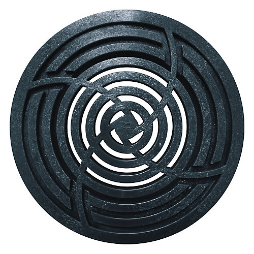 Grille ronde noir de 8 po