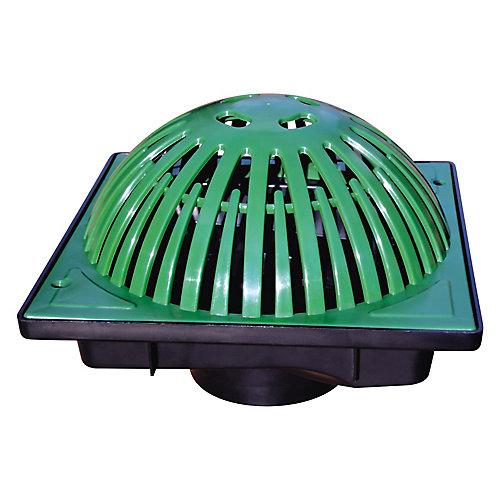 Cuvette de récupération de 9 X 9 po complète avec grille Atrium