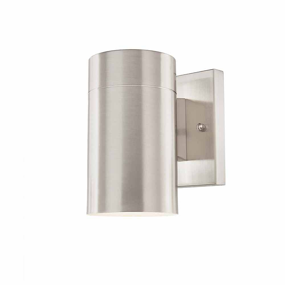 Home Decorators Collection Morrilton 1 Light Brushed Nickel Outdoor Wall Lantern The Home Depot Canada