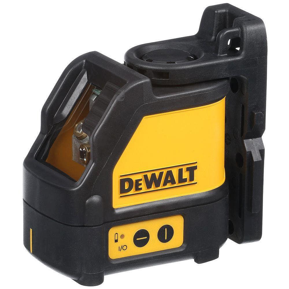 DEWALT 165 ft. Red Self-Leveling Cross-Line Laser Level with (3) AA Batteries & Case