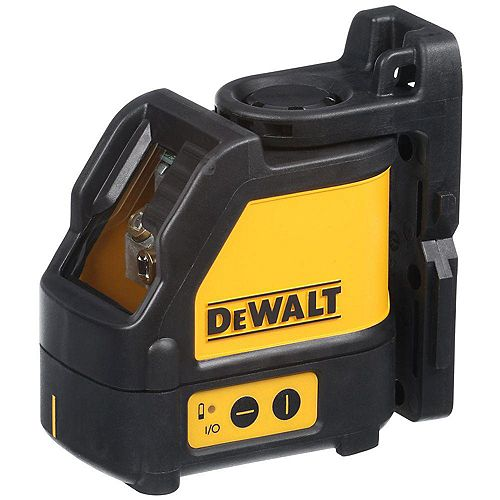 DEWALT 165 ft. Red Self-Leveling Cross-Line Laser Level with (3) AA Batteries & Case