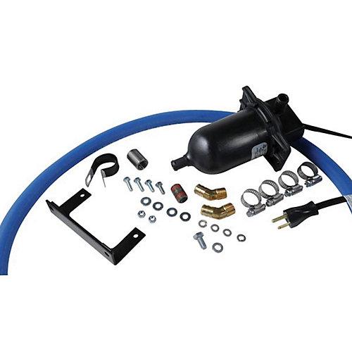 Chauffe-moteur pour conditions de froid extrême à utiliser avec les génératrices de secours automatiques de 150W équipées d'un moteur de 6,8l