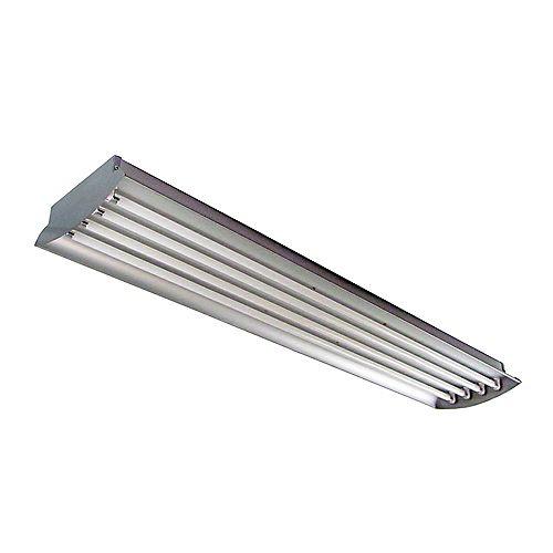 4 Feet 4-Lamp High Output 54-Watt (Each) T5 Aluminum High Bay Light Fixture