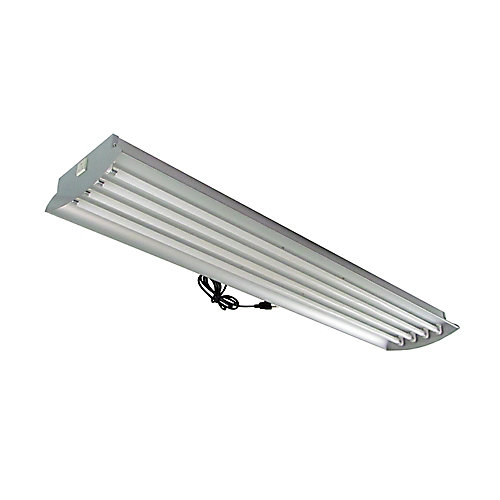 4 Feet 4-Lamp High Output 54-Watt (Each) T5 Aluminum Grow Light Fixture with Lamps