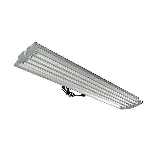 4 Feet 4-Lamp High Output 54-Watt (Each) T5 Aluminum Grow Light Fixture with Lamps