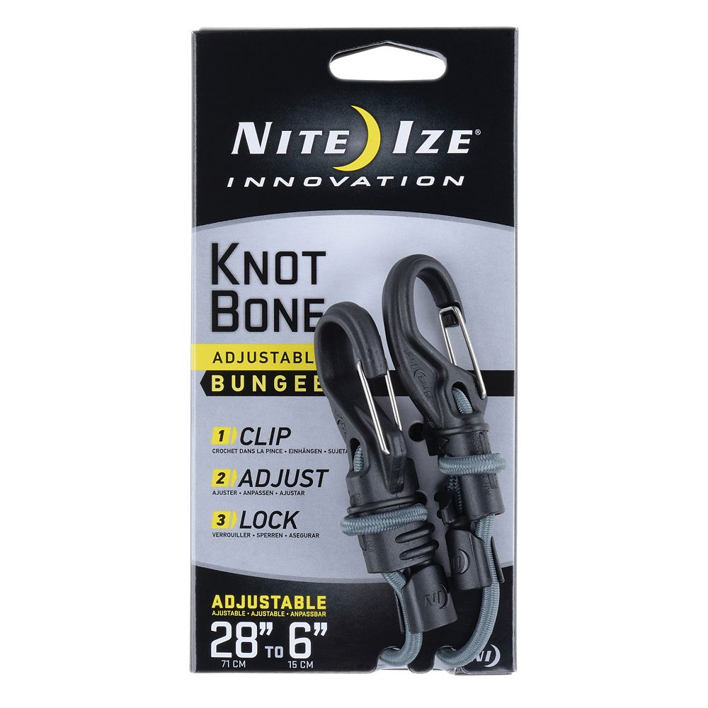Nite Ize Nite Ize KnotBone Adjustable Bungee Cord, With Carabiner Clip Ends  + Adjustable L... | The Home Depot Canada