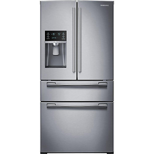 33-inch W 25 cu. ft. French Door Refrigerator in Stainless Steel - ENERGY STAR®