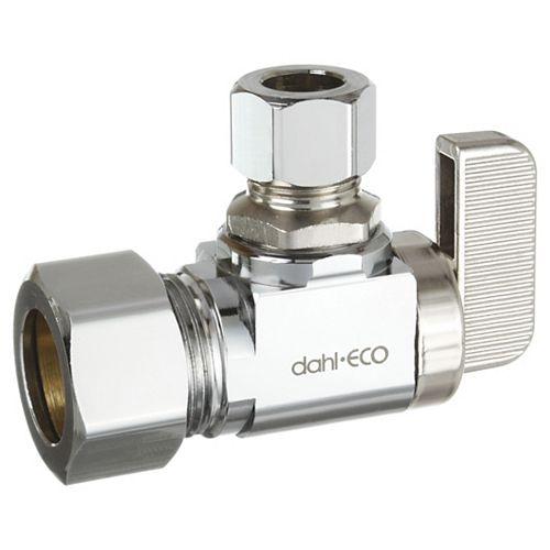 5/8 OD Comp x 3/8 OD Comp, Supply Stop, Angle, Plated, Lead-Free