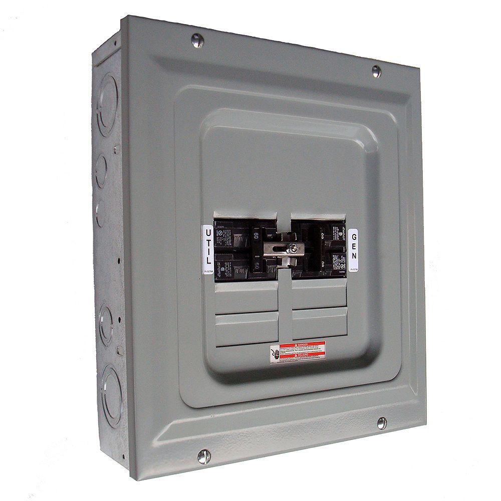 Generac 60-Amp 2,500-Watt Single Load Manual Transfer Switch