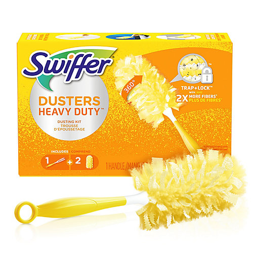 360 Dusters Heavy Duty Dusting Kit (1 Handle, 2 Dusters)