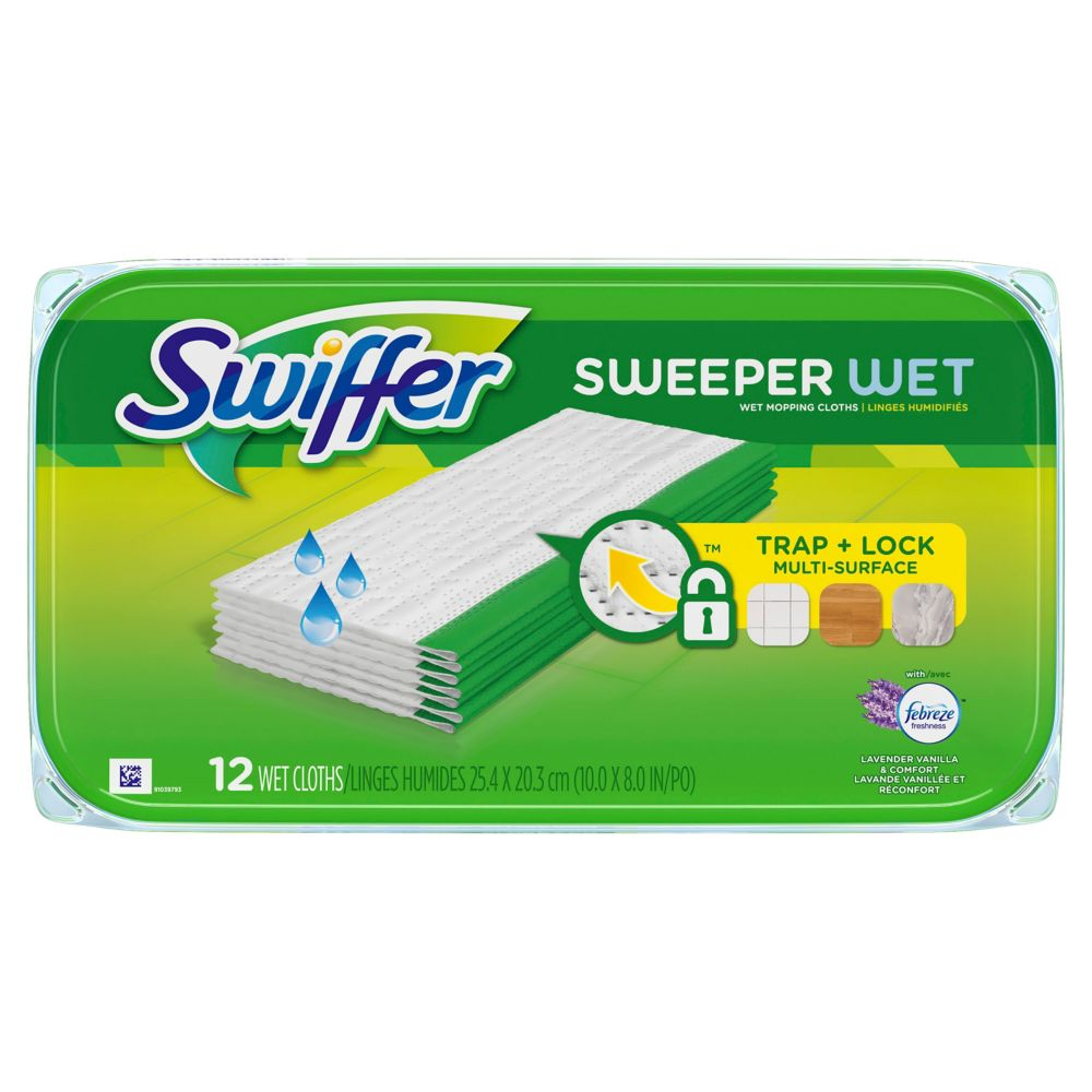 Sweeper Wet Mopping Cloths in Lavender Vanilla & Comfort (12-Pack)