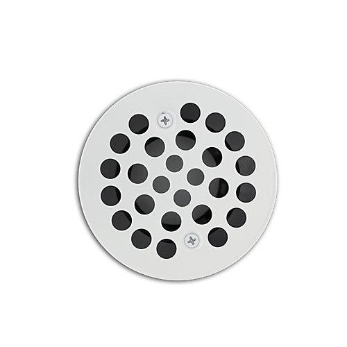 White Shower Drain