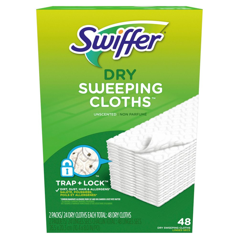 Sweeper Dry Sweeping Cloths Multi Surface Refills, Unscented, 48 count