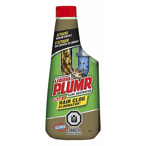 Déboucheur pour bouchons de cheveux de puissance professionnelle Hair Clog EliminatorMC de Liquid-Plumr, 473 mL