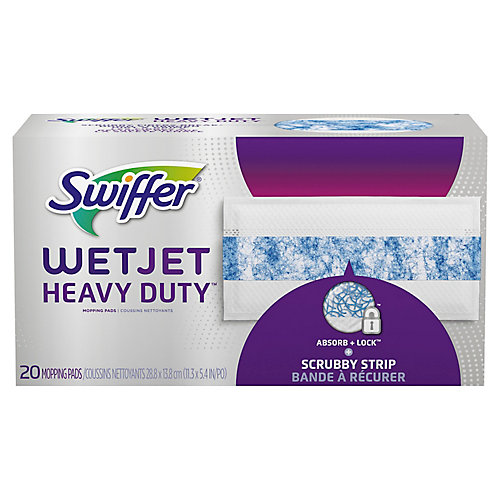 WetJet Heavy Duty Mopping Pads Refill, 20 count