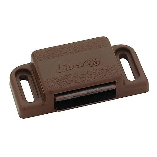 Heavy Duty Magnetic Catch with Strike BROWN