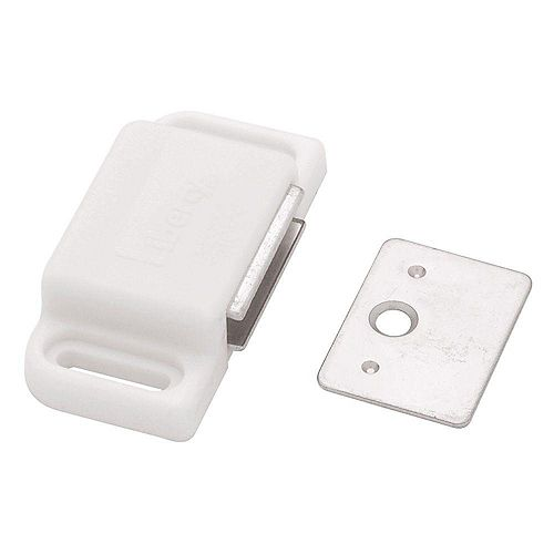 Heavy Duty Magnetic Catch with Strike WHITE