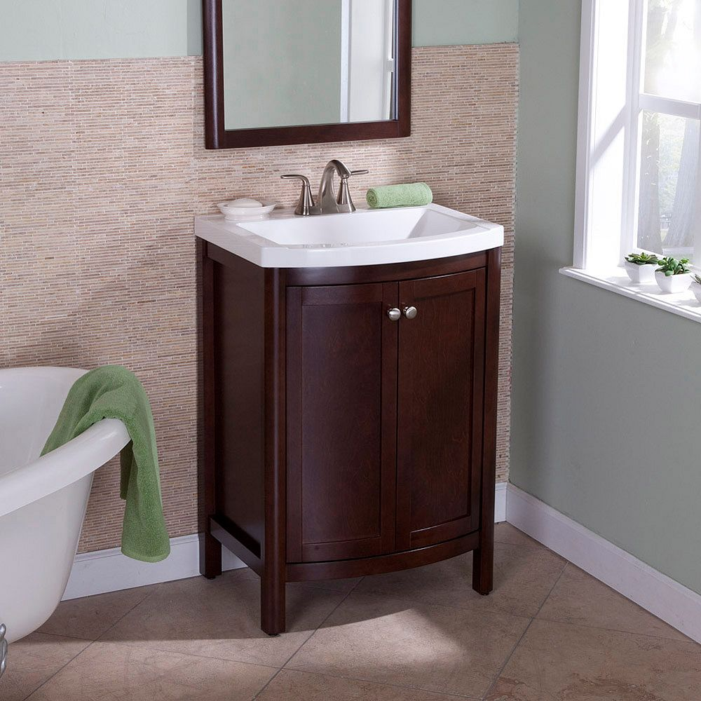 St. Paul Madeline 24 Inch Vanity in Chestnut with Vanity Top and Mirror - MD24P3C-CN