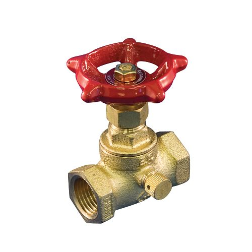 Aqua-Dynamic Stop & Waste Valve 1/2 Inch Brass Threaded Lead Free