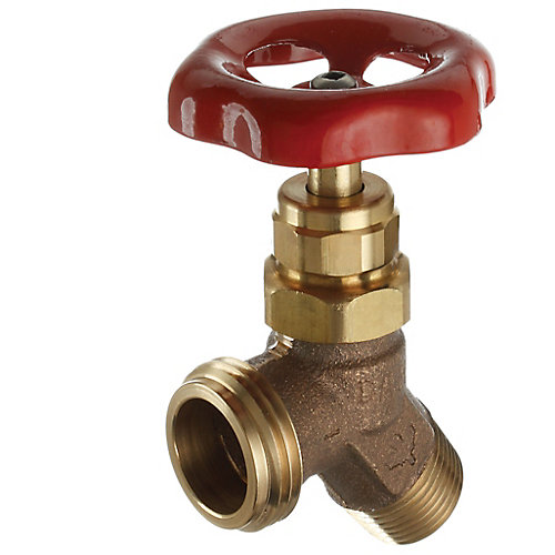 1/2 MIP or 1/2 Female Solder x Male Hose, Hose Valve, Angle, Brass, Lead-Free