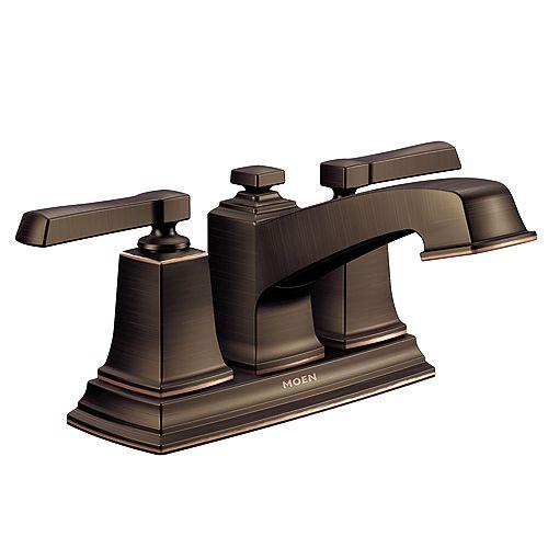 Boardwalk 4-inch Centerset 2-Handle Lever Handle with WaterSense in Mediterranean Bronze