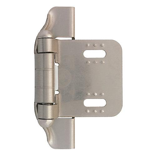 1/4 inch Semi-Wrap Overlay Hinge (2-Pack)