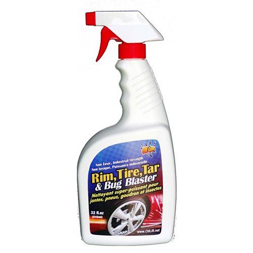 Oil Lift 948 ml, Nettoyant super-puissant pour jantes, pneus, goudron et insectes