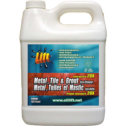 948 ml, Industrial Strength, Non-Toxic, Metal, Tile & Grout Cleaner