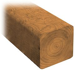 4 x 4 x 12' Pressure Treated Wood (Suitable for Ground Contact)