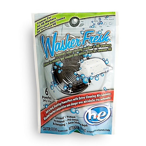 High Efficiency Washing Machine Cleaner & Refresher - 6 Pouch