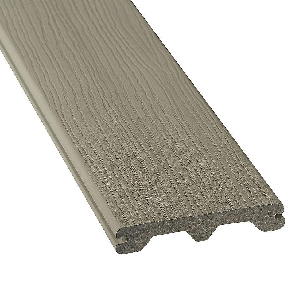 Veranda 12 feet  - hp capped  grooved composite decking - gray