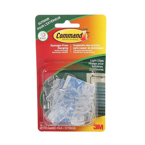Pinces pour lumières extérieures Command(MC), 17017CLR-AWC, transparent