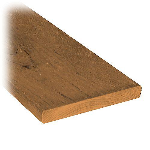 Planche de clôture en bois traité de 1 x 6 x 5 pi