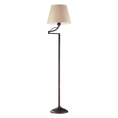 Titan Lighting 1- Light Lamp Aged Bronze Floor Lamp