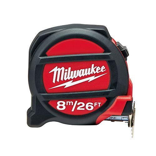 Milwaukee Tool 8M/26 Foot Premium Non-Magnetic Tape Measure