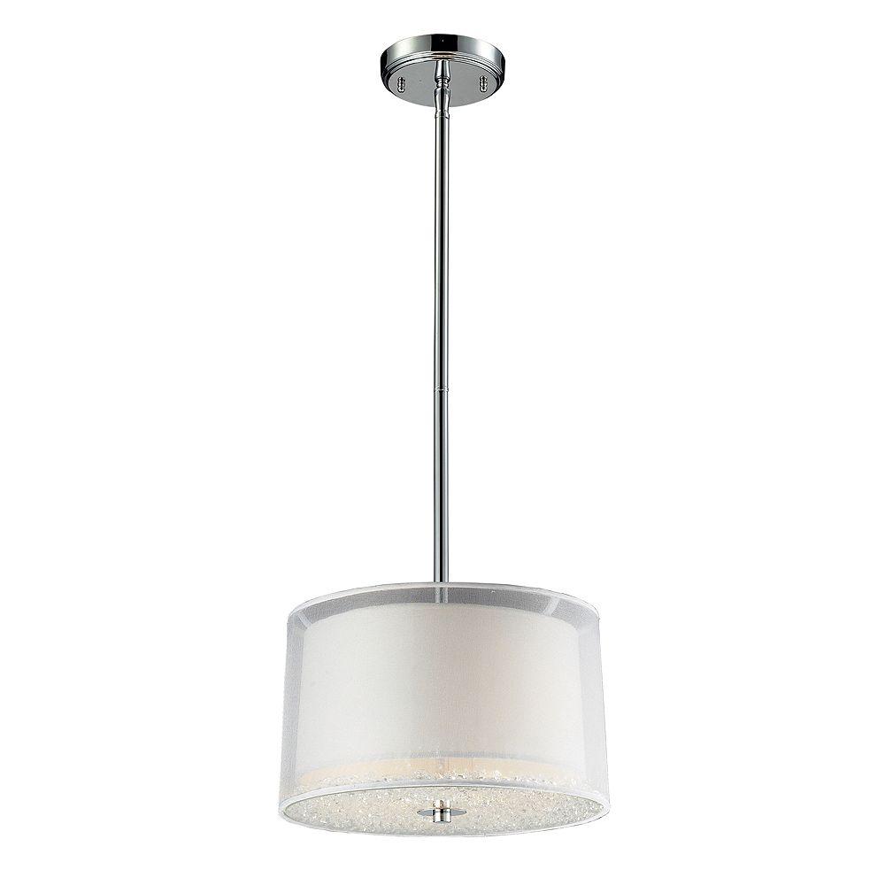Titan Lighting 2- Light Ceiling Mount Polished Chrome Pendant