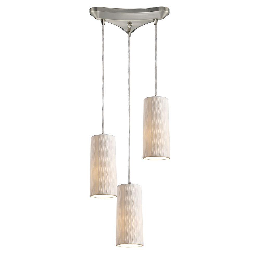 Titan Lighting 3-Light Ceiling Satin Nickel Pendant - TN-8439