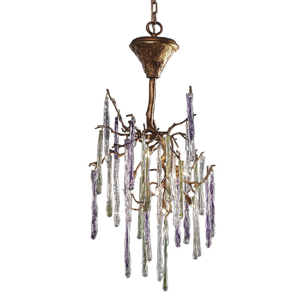 Titan Lighting Lustre à 7 ampoules au fini bronze talha