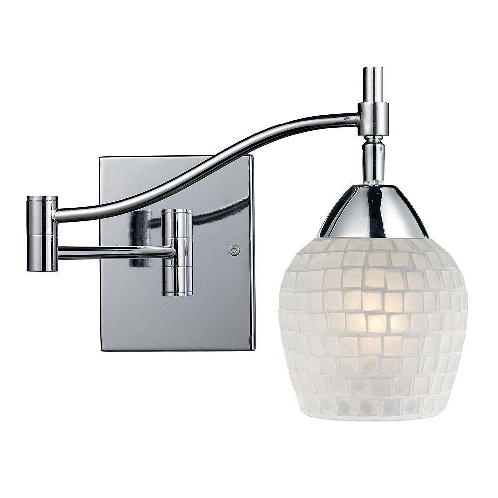 Titan Lighting 1-Light Wall Mount Polished Chrome Swing Arm