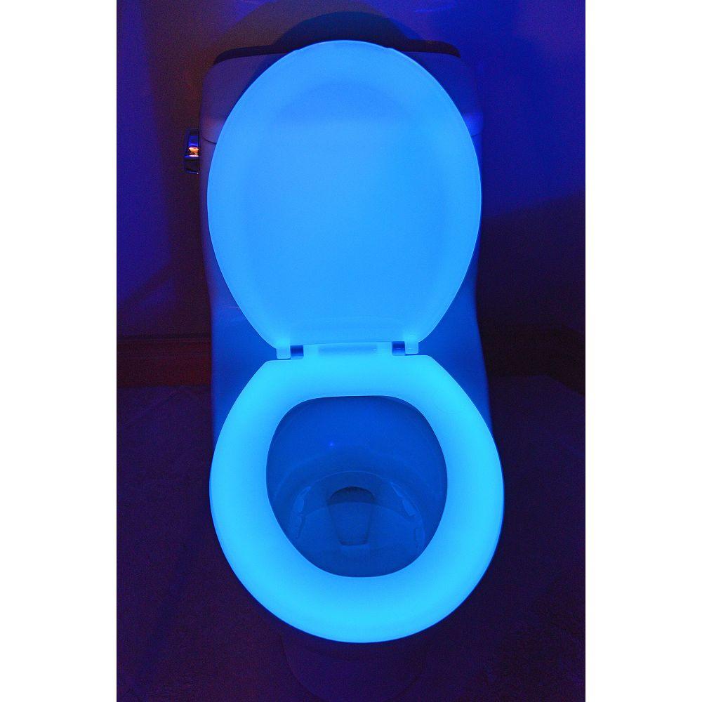 Night Glow 200 Round Glow in the Dark Toilet Seat in Blue