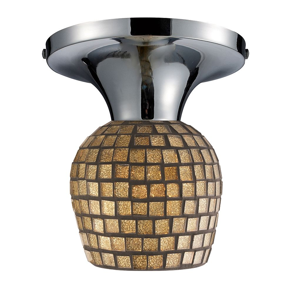 Titan Lighting Semi-plafonnier à 1ampoule au fini rouille sombre - TN-9750