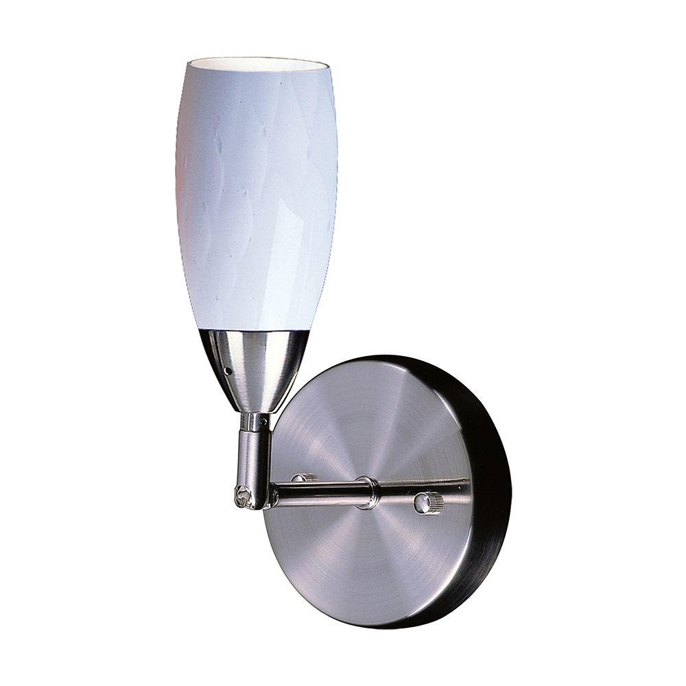 Titan Lighting Applique à bras pivotant à 1 ampoule au fini nickel satiné