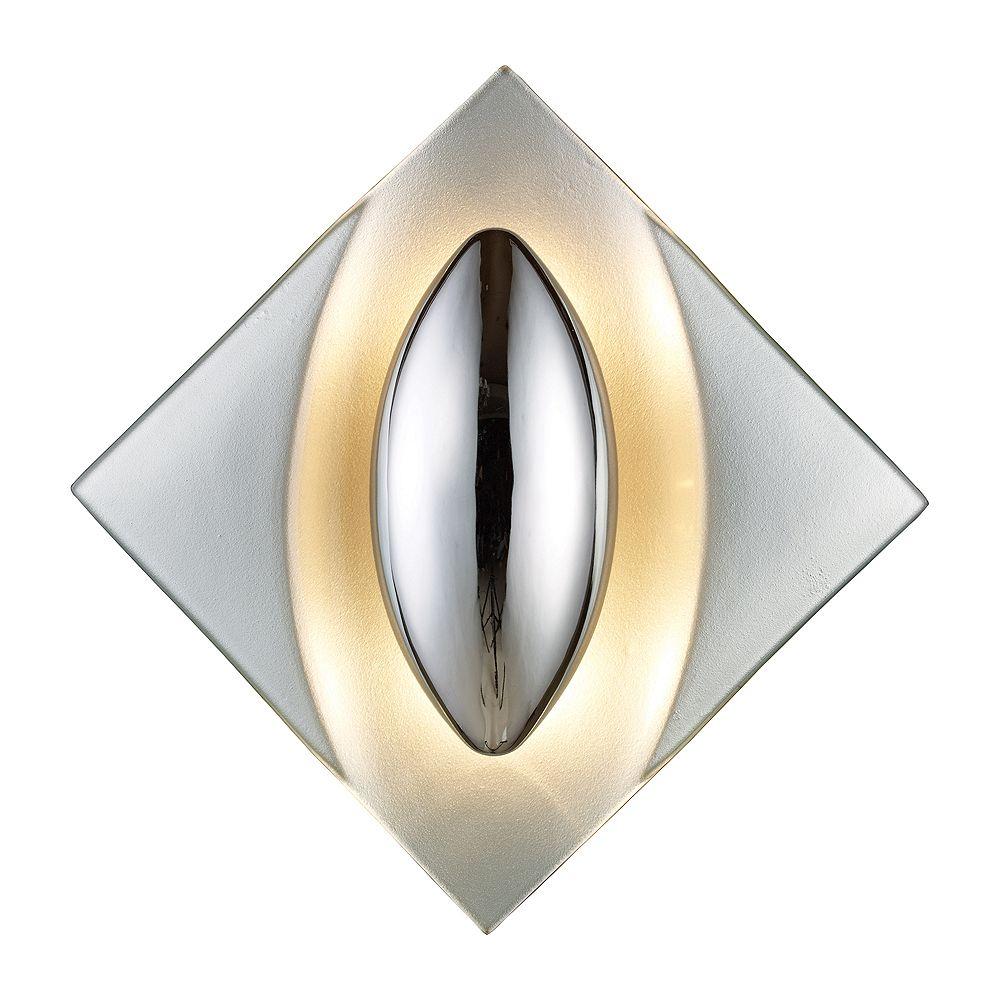 Titan Lighting 2-Light Wall Mount Silver Sconce
