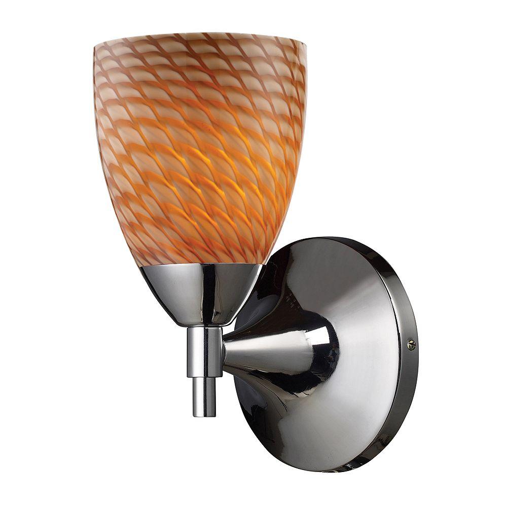 Titan Lighting 1-Light Wall Mount Polished Chrome Sconce