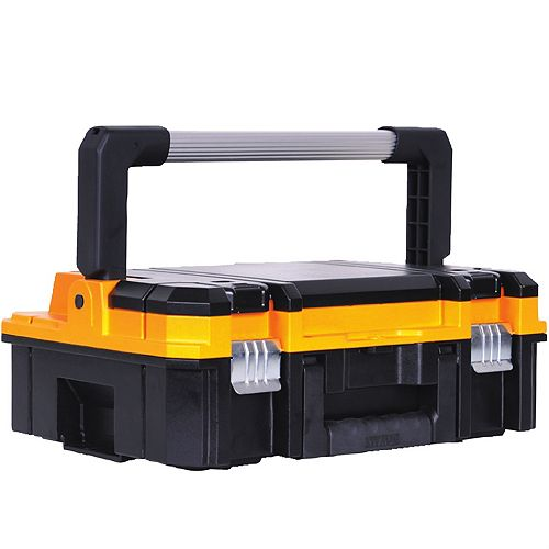 DEWALT TSTAK I Stackable 7-Compartment Long Handle Small Parts & Tool Storage Organizer