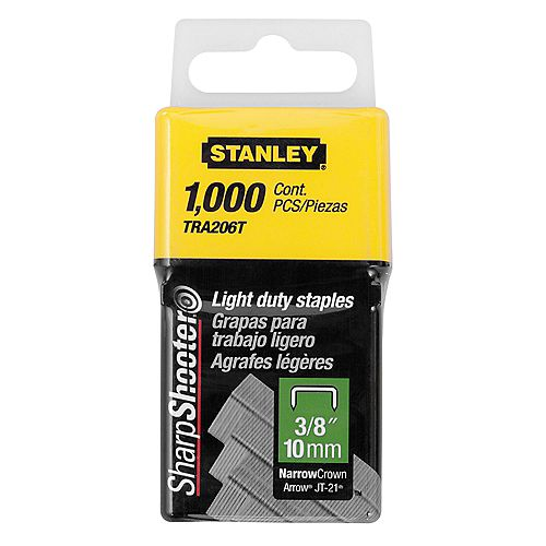 3/8-inch Light Duty Staples (1000 per Box)
