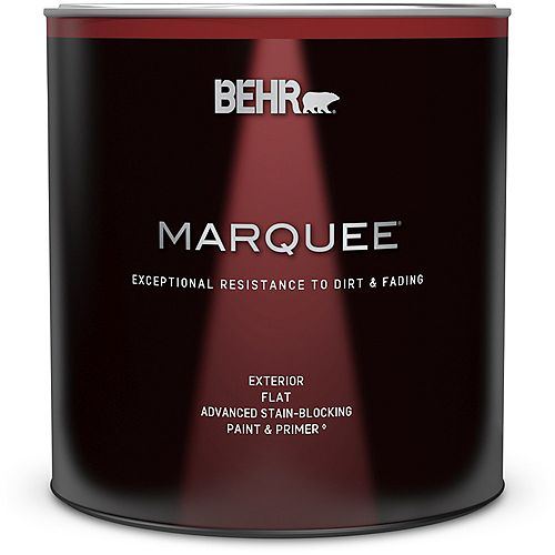 Behr Marquee Marquee 946 mL Ultra Pure White Flat Exterior Paint with Primer