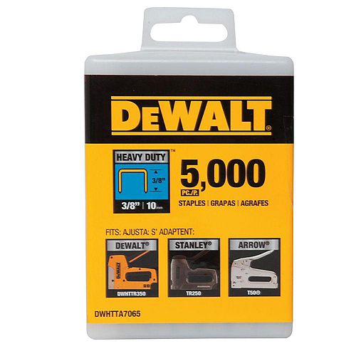 3/8-inch Heavy Duty Staples (5000-Pack)