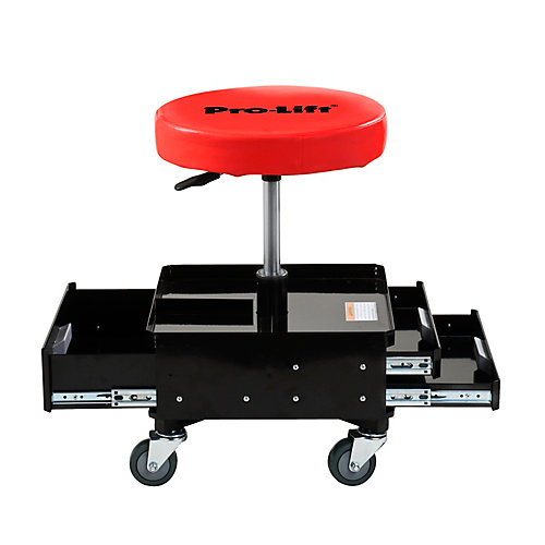 Pneumatic Adjustable Work Chair With 3 Drawers